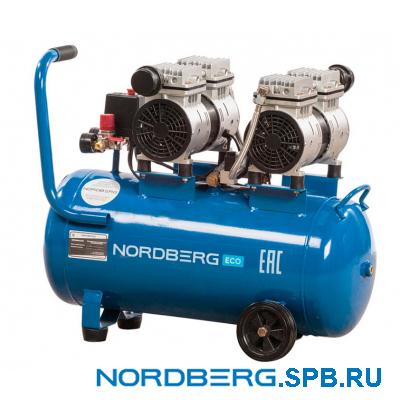 Компрессор поршневой безмаслянный, объем 50 л Nordberg ECO NCEO50/210
