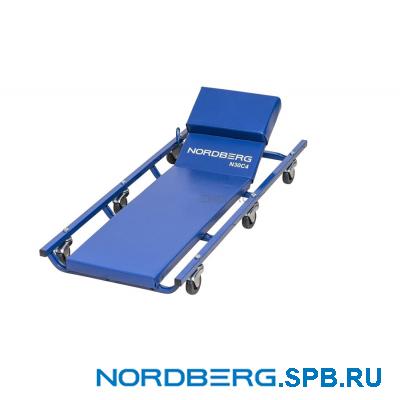 Лежак подкатной с подъемным подголовником Nordberg N30C4