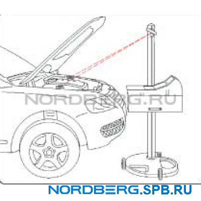Установка проверки и регулировки света фар Nordberg NTF1
