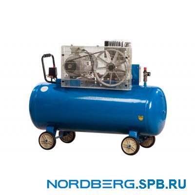 Компрессор поршневой с ременным приводом, объем 300 л Nordberg ECO NCE300/810