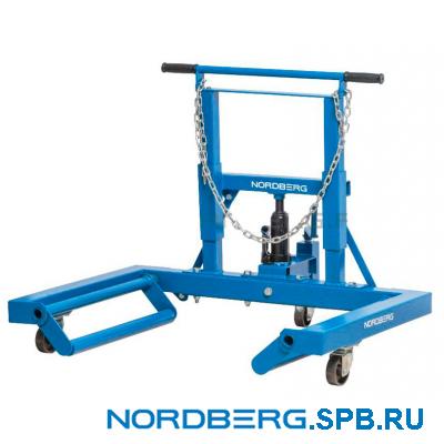 Тележка гидравлическая для снятия/установки колёс, г/п 680 кг Nordberg N31007