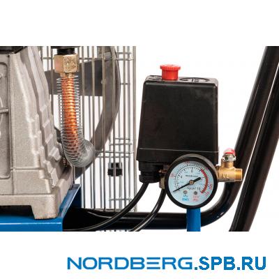Компрессор поршневой с ременным приводом, объем 100 л Nordberg ECO NCE100/400