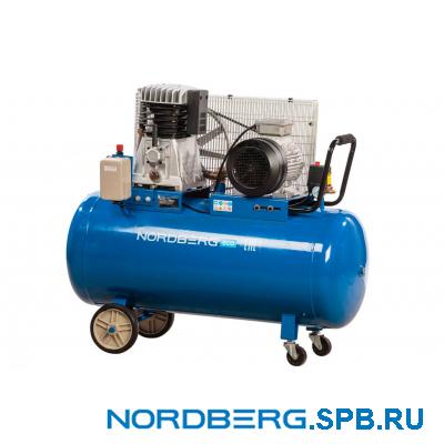Компрессор поршневой с ременным приводом, объем 200 л Nordberg ECO NCE200/520