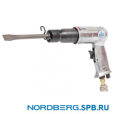 Пневматическое зубило 190 мм с комплектом насадок Nordberg NP5066