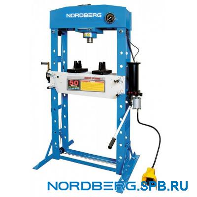 Пресс пневмогидравлический, усилие 50 тонн Nordberg N3650A