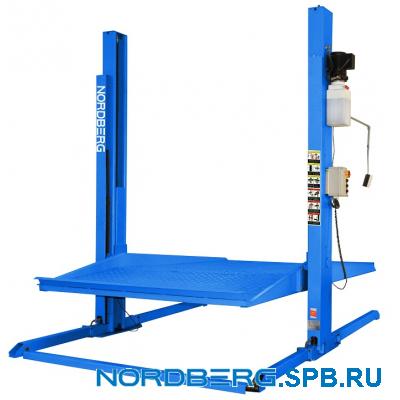 Парковка двухуровневая, двухстоечная 3 тонны Nordberg NB-3