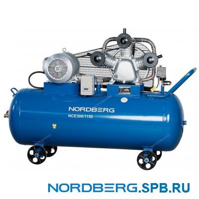 Компрессор поршневой с ременным приводом Nordberg ECO NCE300/1150