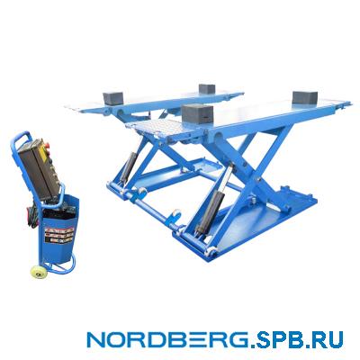 Подъемник ножничный электрогидравлический, г/п 3 тонны Nordberg N632-3