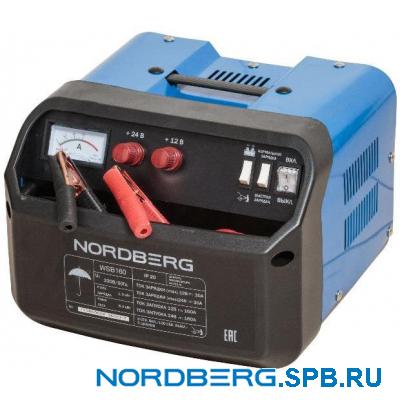Устройство пускозарядное 12/24V макс ток 160A Nordberg WSB160