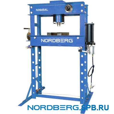 Пресс гидравлический, усилие 45 тонн пневмопривод Nordberg N3645AL