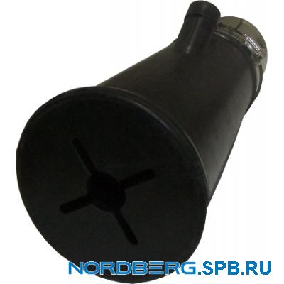 Насадка газоприемная резиновая круглая на шланг D=75мм Nordberg AN075R