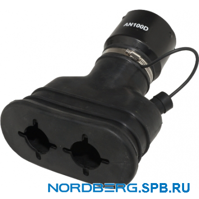Насадка газоприемная резиновая овальная на шланг D=100мм Nordberg AN100D