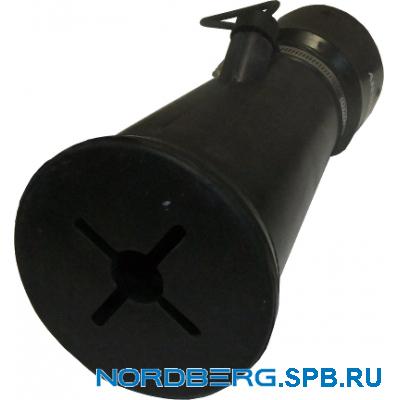 Насадка газоприемная резиновая круглая на шланг D=100мм Nordberg AN100R