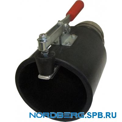 Насадка газоприемная резиновая круглая с зажимом на шланг D=100мм Nordberg AN100RC