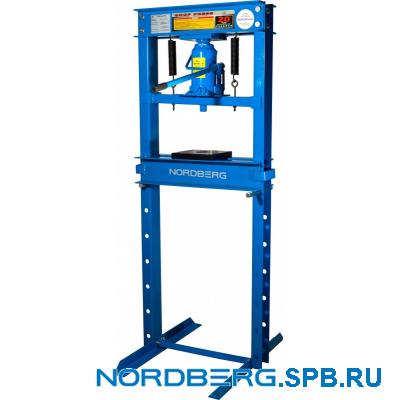 Пресс гидравлический, усилие 20 тонн, силовое устройство - домкрат Nordberg N3620JL