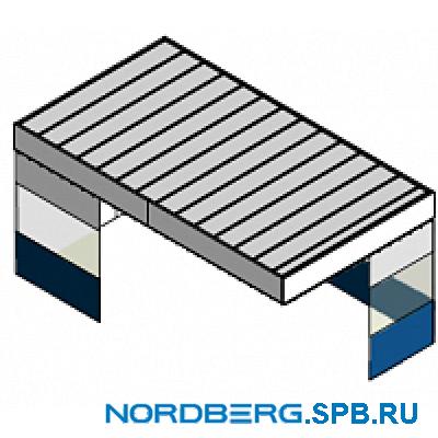 Потолочный пленум с шторками и стенами (кабина) Nordberg