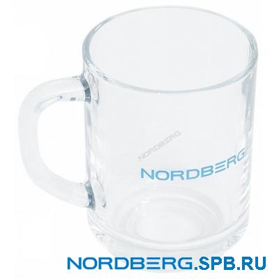 Кружка стеклянная прозрачная Nordberg