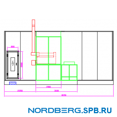 Окрасочно-сушильная камера Nordberg Medio