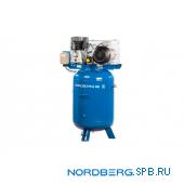Компрессор поршневой с ременным приводом вертикальный, объем 300 л Nordberg ECO NCEV300/810