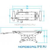 Ножничный пневматический подъемник, г/п 2,5 тонны Nordberg n636-2,5
