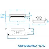 Траверса пневмогидравлическая 3 тонны Nordberg N433A
