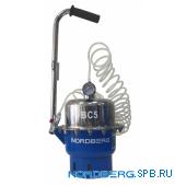 Установка пневматическая для прокачки тормозной системы и системы сцепления, объем 5 л Nordberg BC5