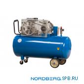 Компрессор поршневой с ременным приводом, объем 200 л Nordberg ECO NCE200/660