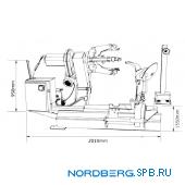 Шиномонтажный станок для грузовых автомобилей Nordberg 46TRK (380В)