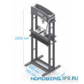 Пресс пневмогидравлический, усилие 20 тонн Nordberg N3620A