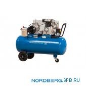 Компрессор поршневой с ременным приводом Nordberg ECO NCE100/400
