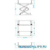 Подъемник ножничный, г/п 3,5 тонны Nordberg N631-3,5