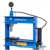 Пресс гидравлический, усилие 20 тонн пневмо привод Nordberg N3620AL