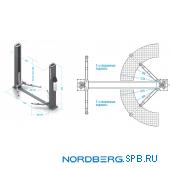 Подъемник двухстоечный 4 тонны Nordberg N4120B-4T