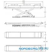 Подъемник ножничный электрогидравлический, г/п 4,5 тонны Nordberg N634-4,5