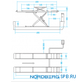 Подъемник ножничный, г/п 3,5 тонны Nordberg N635-4,0