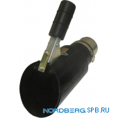 Насадка газоприемная резиновая овальная наклонная на шланг D=75мм Nordberg AN075DI
