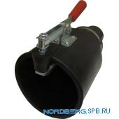 Насадка газоприемная резиновая круглая с зажимом на шланг D=75мм Nordberg AN075RC