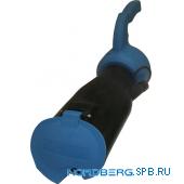 Насадка газоприемная резиновая овальная с ручкой на шланг D=100мм Nordberg AN100DH