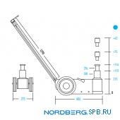 Домкрат подкатной пневмогидравлический, 50 тонн Nordberg N502