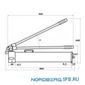 Насос гидравлический для растяжки стапеля 10 т/20 т Nordberg ВМ-04